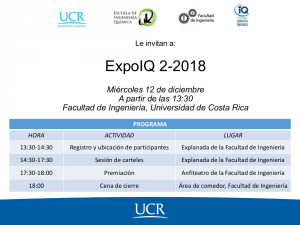 COMUNICADO: Invitación a la ExpoIQ 2-2018