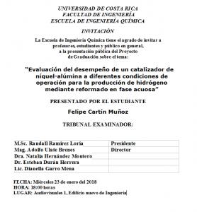 COMUNICADO: Presentación de tesis del estudiante Felipe Cartín Muñoz
