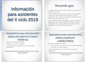 INTERÉS: Información para becas por participación en horas estudiante o asistente