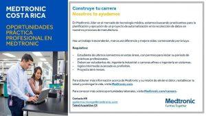 Oportunidad para práctica profesional en Medtronic