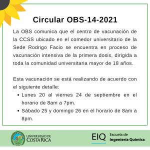 Circular OBS-14-2021