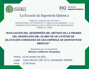 TFG de la estudiante Mónica Calderón